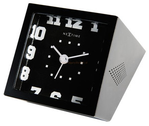 Budzik Nextime 5171zw Be Square Black